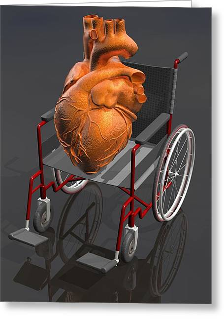 Heart Disease Greeting Cards - Unhealthy Heart, Conceptual Artwork Greeting Card by Laguna Design