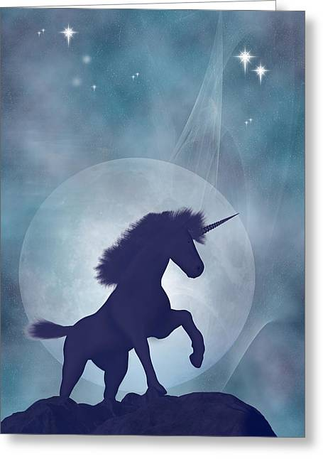 Fantasy Creatures Greeting Cards - Unicorn Greeting Card by Carol and Mike Werner