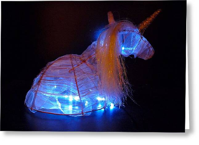 Iridescent Unicorn Greeting Cards - Unicorn Hat Greeting Card by Rylee Stearnes