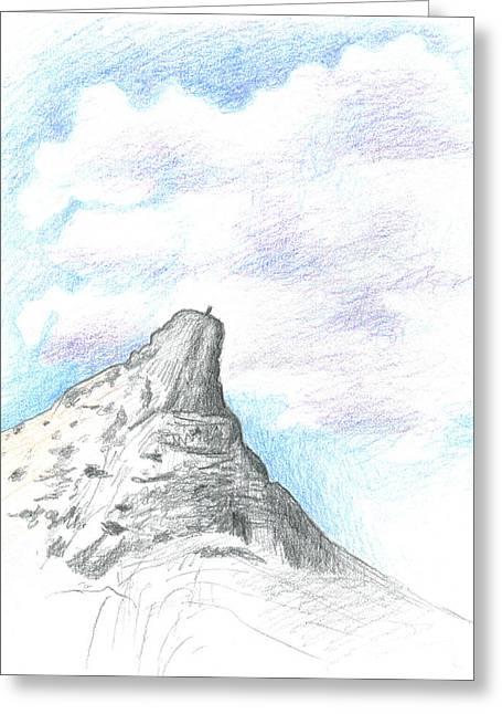 Unicorn Peak Greeting Card by Logan Parsons
