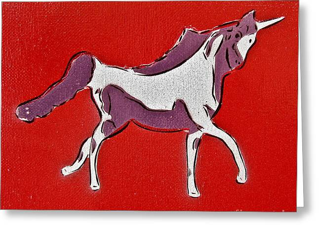 Tom Evans Greeting Cards - Unicorn Greeting Card by Tom Evans