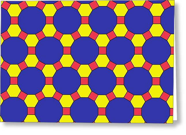 Platonic Greeting Cards - Uniform Tiling Pattern Greeting Card by