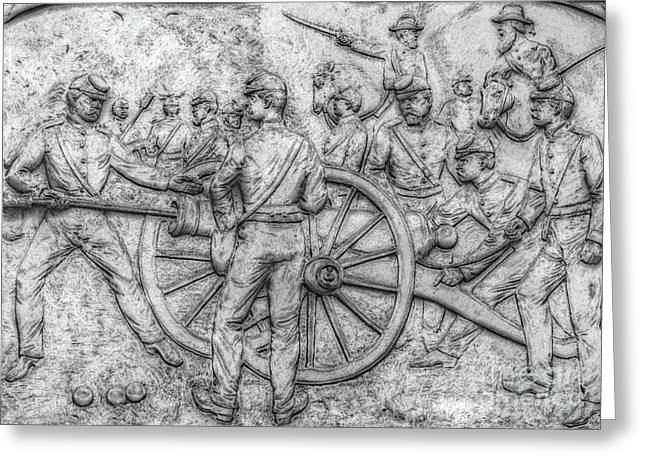 Union Artillery Civil War Drawing Greeting Card by Randy Steele