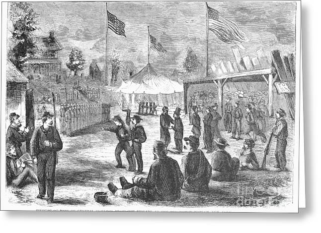 Brigade Greeting Cards - Union Brigade, 1861 Greeting Card by Granger