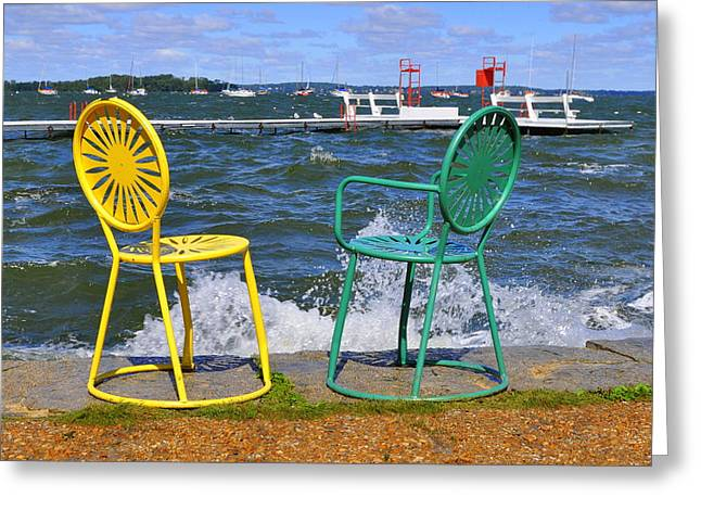 Union Terrace Greeting Cards - Union Chairs Greeting Card by Melanie Guest