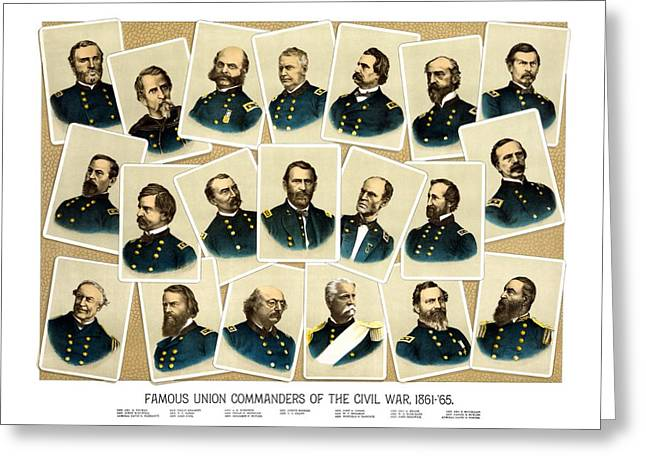 """civil War"" Greeting Cards - Union Commanders of The Civil War Greeting Card by War Is Hell Store"