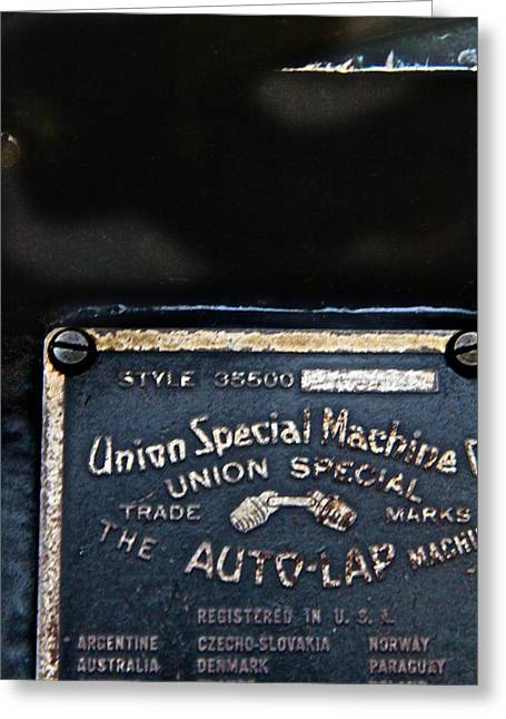Textile Museum Greeting Cards - Union Special Greeting Card by Odd Jeppesen
