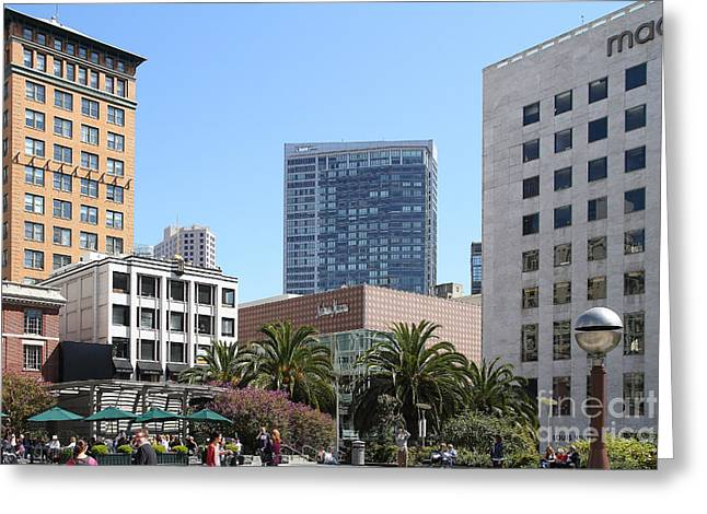 Union Square San Francisco Greeting Card by Wingsdomain Art and Photography