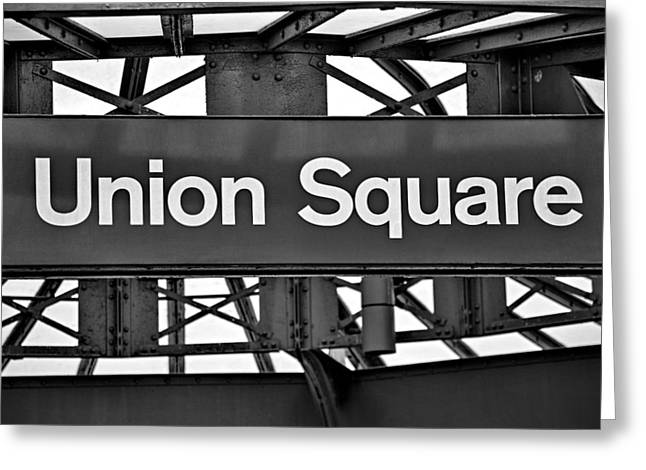 Union Square Photographs Greeting Cards - Union Square  Greeting Card by Susan Candelario