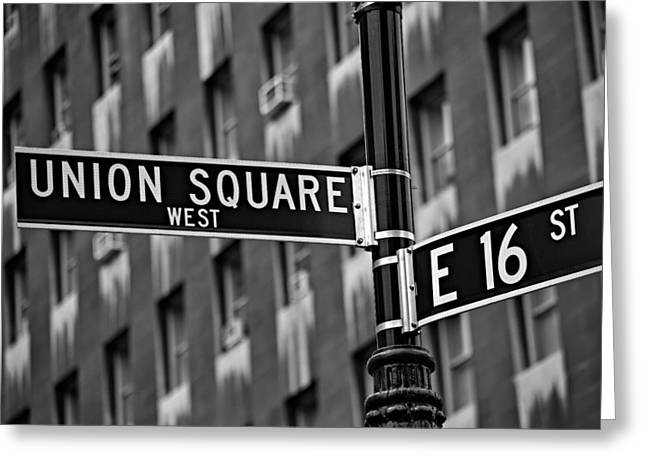 Union Square Photographs Greeting Cards - Union Square West Greeting Card by Susan Candelario
