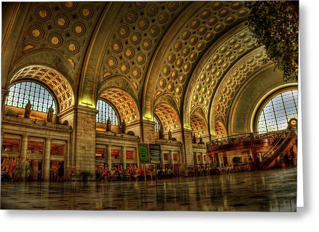 Vaults Greeting Cards - Union Station - DC Greeting Card by Frank Garciarubio
