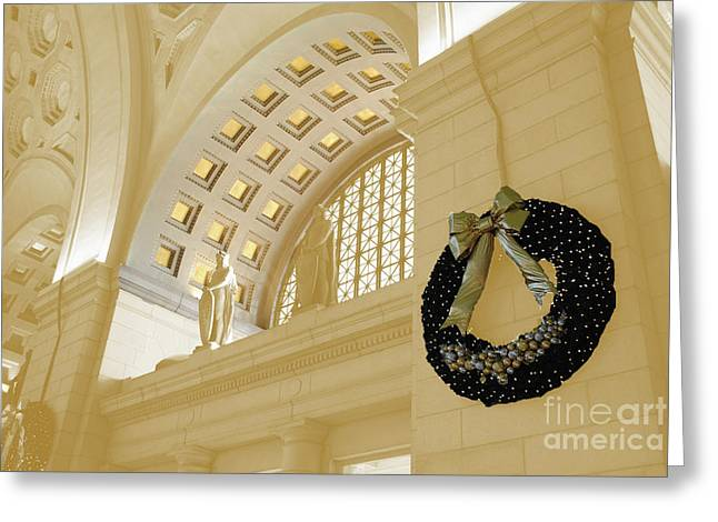 Union Station Holiday Greeting Card by Jost Houk