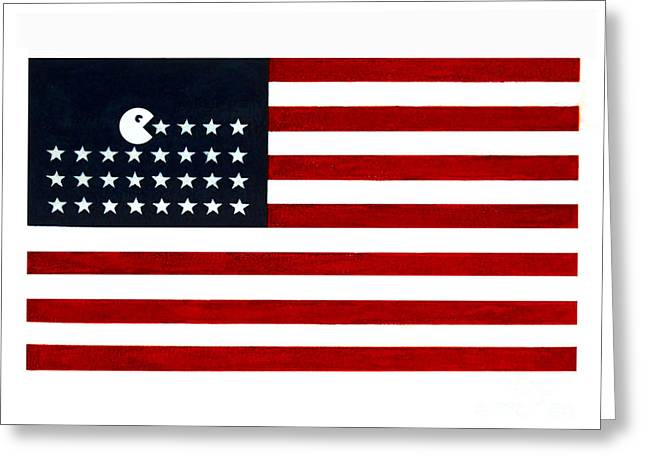 United State of the Man Greeting Card by Keith QbNyc