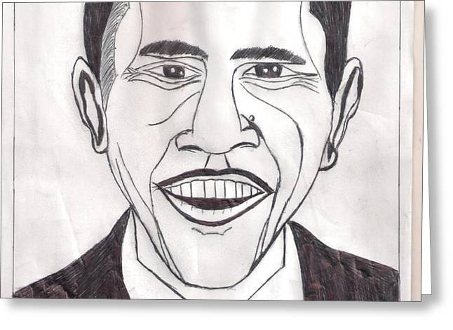 United State President Barack Obama Greeting Card by Ademola kareem oshodi