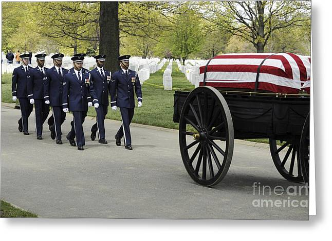 United States Air Force Honor Guard Greeting Card by Stocktrek Images