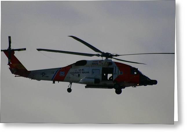 Jayhawk Greeting Cards - United States Coast Guard Sikorsky HH-60 Jayhawk Greeting Card by Christopher Kirby