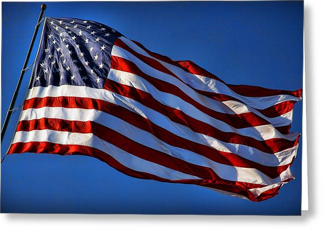 Betsy Ross Greeting Cards - United States Of America - USA Flag Greeting Card by Gordon Dean II