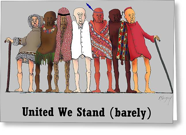 R Allen Swezey Greeting Cards - United We Stand Greeting Card by R  Allen Swezey