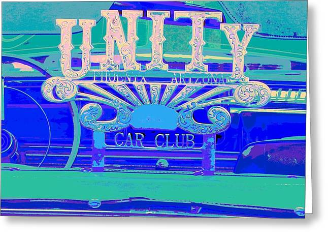 Tricked-out Cars Greeting Cards - UNITY Car Club-Phoenix Arizona Greeting Card by Chuck Re