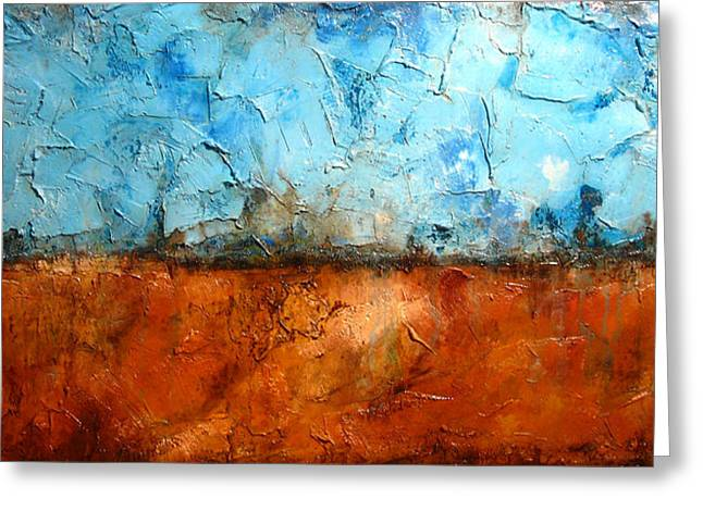 Surreal Landscape Mixed Media Greeting Cards - Unity Greeting Card by Henry Parsinia