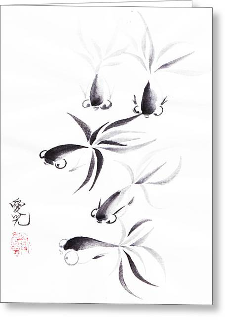 Oriental Greeting Cards - Unity is Strength Greeting Card by Oiyee  At Oystudio