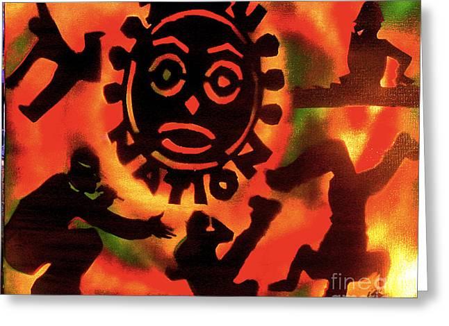 First Amendment Greeting Cards - Universal Zulu Nation Greeting Card by Tony B Conscious