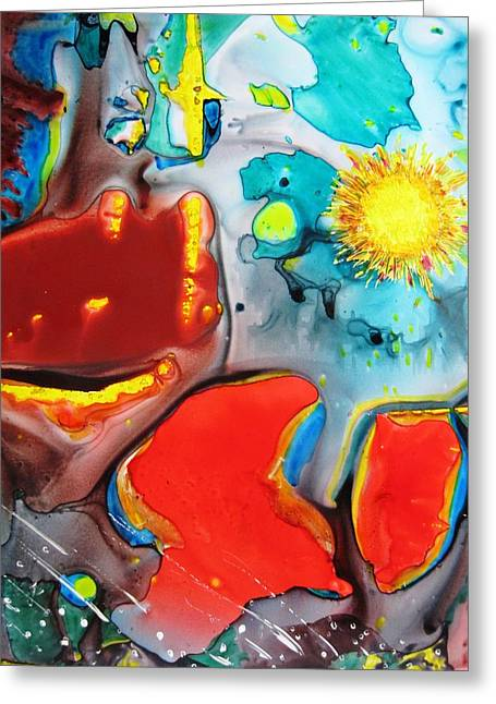 Boardroom Mixed Media Greeting Cards - Universe Four Greeting Card by David Raderstorf