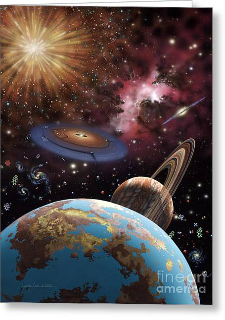 Universe II Greeting Card by Lynette Cook
