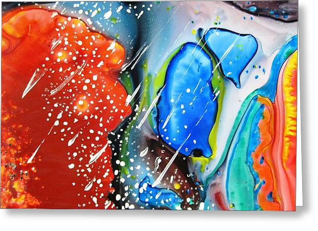 Boardroom Mixed Media Greeting Cards - Universe Six Greeting Card by David Raderstorf