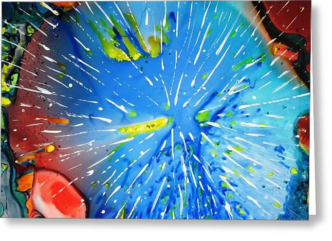 Boardroom Mixed Media Greeting Cards - Universe Three Greeting Card by David Raderstorf