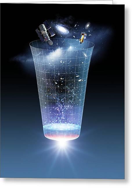 The Big Bang Greeting Cards - Universe Time Line, Artwork Greeting Card by Detlev Van Ravenswaay