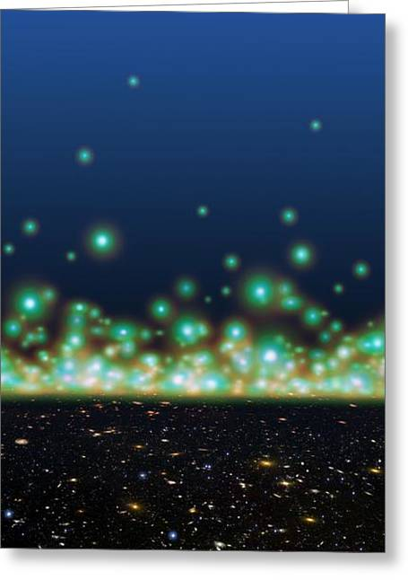 The Big Bang Greeting Cards - Universe Timeline, Artwork Greeting Card by Detlev Van Ravenswaay