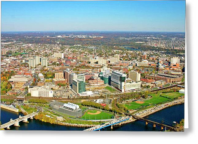 University City Philadelphia Pennsylvania Greeting Card by Duncan Pearson