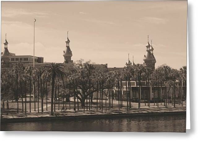 Tampa Buildings Greeting Cards - University of Tampa with Old World Framing Greeting Card by Carol Groenen