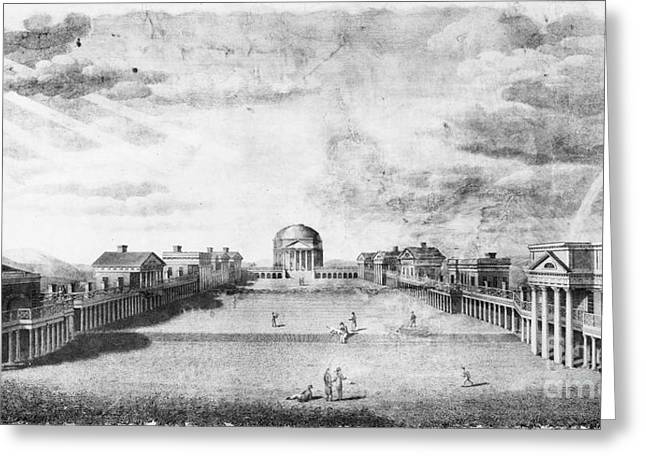 Jefferson Greeting Cards - University Of Virginia Greeting Card by Granger