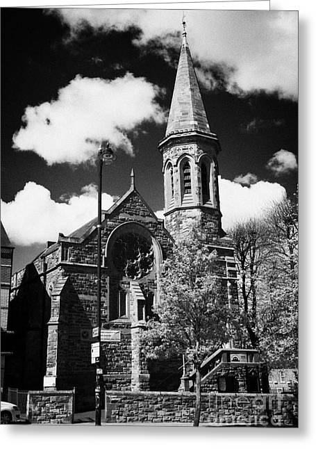 Moravian Greeting Cards - university road moravian church Belfast Northern Ireland UK Greeting Card by Joe Fox