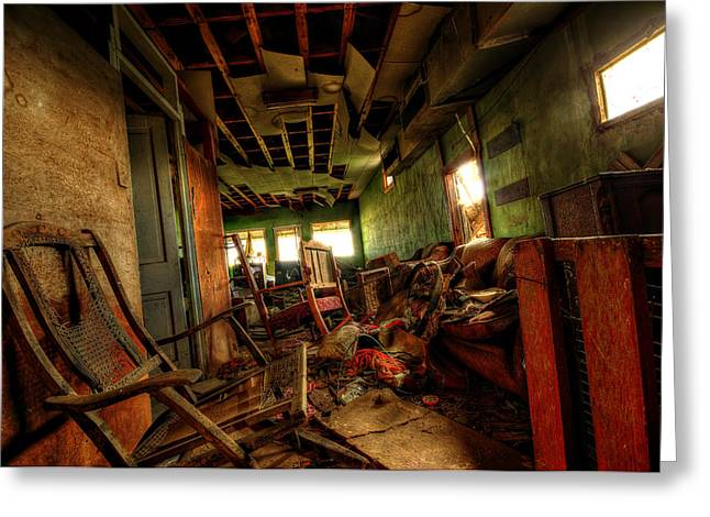 Abandoned Houses Photographs Greeting Cards - Unkept Greeting Card by Shane Linke
