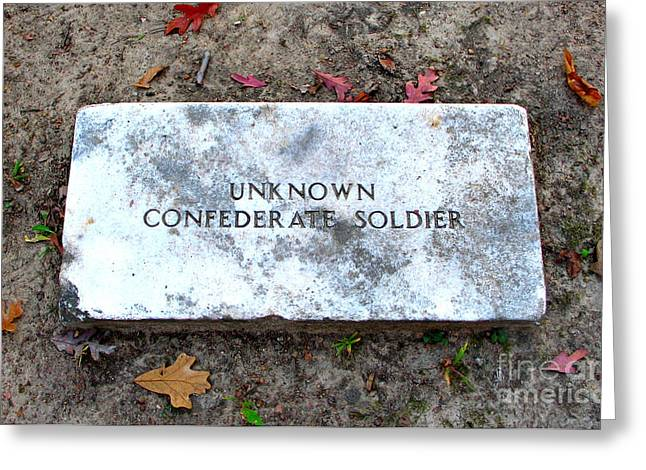 Best Sellers -  - Civil War Battle Site Greeting Cards - Unknown Confederate Soldier Greeting Card by Renee Trenholm