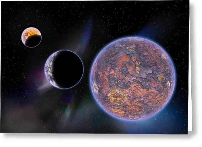 Intergalactic Space Greeting Cards - Unknown Worlds Greeting Card by Barry Jones