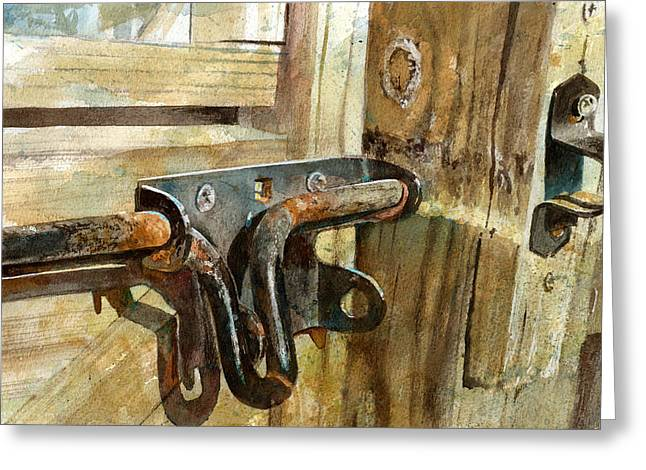 Hardware Greeting Cards - Unlatched Greeting Card by Andrew King