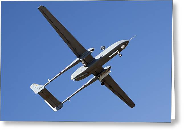 Aerospace Industry Greeting Cards - Unmanned Aerial Vehicle Greeting Card by Photostock-israel