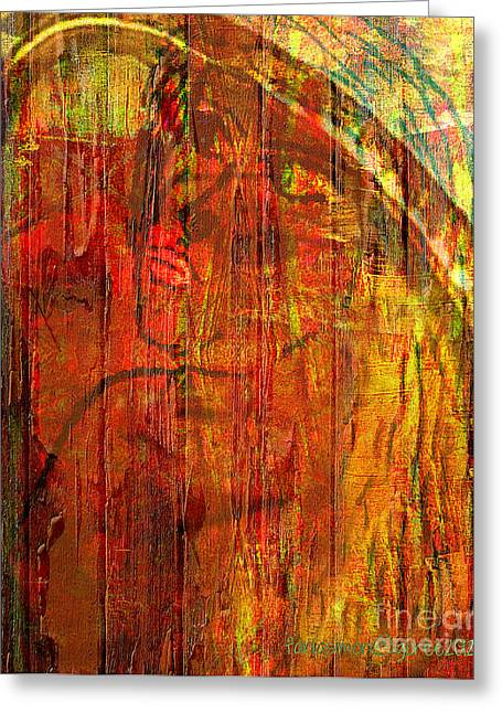 Convention Mixed Media Greeting Cards - Unmixed Faith Greeting Card by Fania Simon