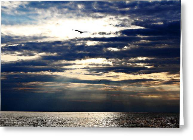 Amazing Sunset Greeting Cards - Unordinary Sunset Greeting Card by Celestial Blue