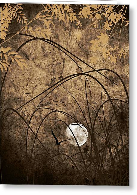Abstract Moon Greeting Cards - Unseen Greeting Card by Lourry Legarde