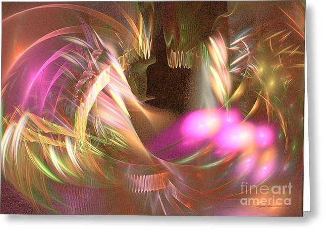Interior Still Life Mixed Media Greeting Cards - Untamed - abstract art Greeting Card by Abstract art prints by Sipo
