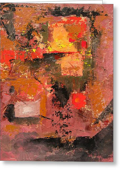 Untitled Abstract 616-12 Greeting Card by Sean Seal