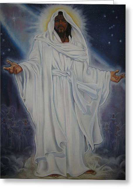 Jesus Pastels Greeting Cards - Untitled Greeting Card by Joyce Hayes