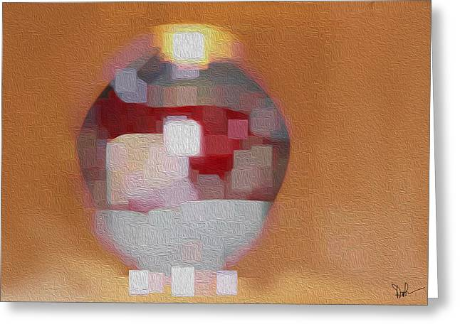 Beige Abstract Greeting Cards - Untitled Greeting Card by Pam Gleichman