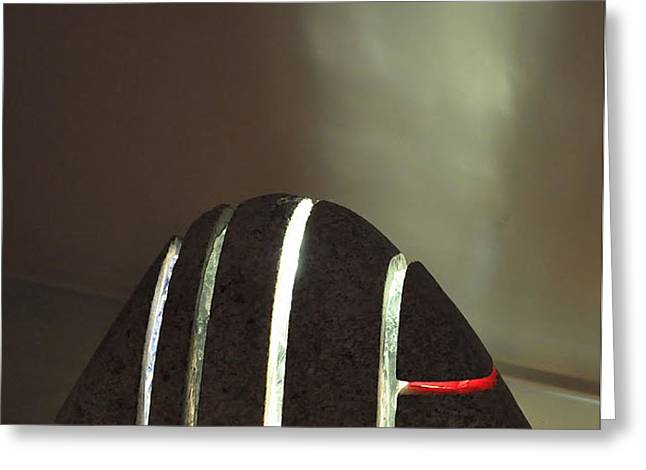 Illuminate Sculptures Greeting Cards - Untitled Rock Sculpture Greeting Card by Tommy  Urbans