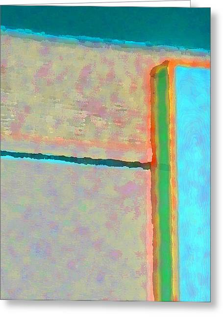 Greeting Card featuring the digital art Up And Over by Richard Laeton